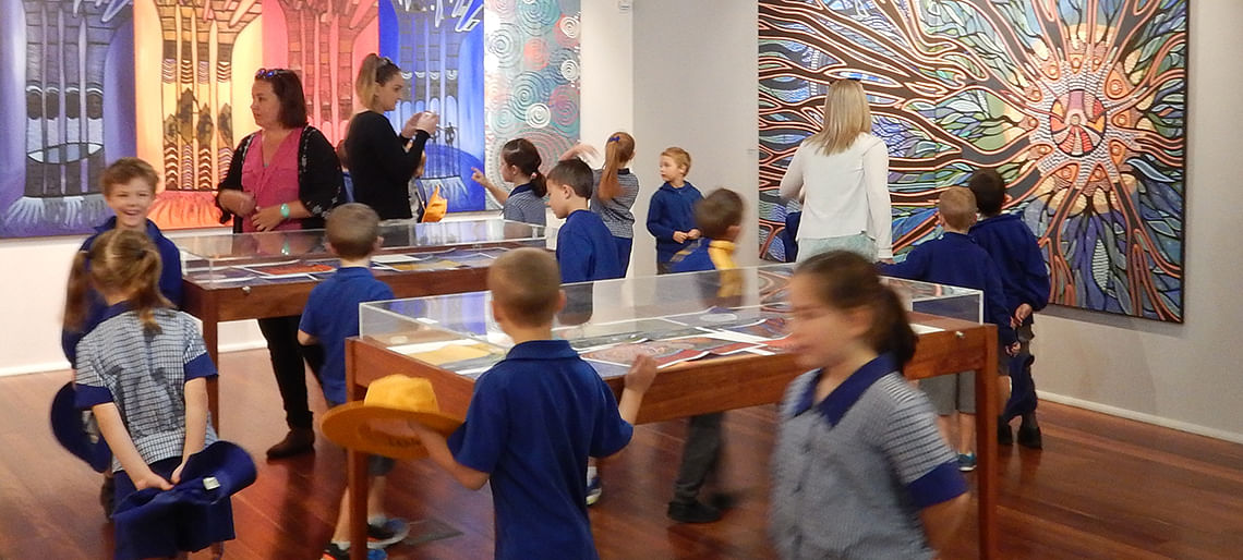 School students at the gallery
